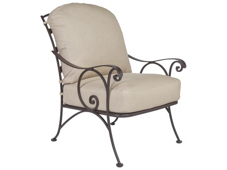 OW Lee Siena Wrought Iron Lounge Chair