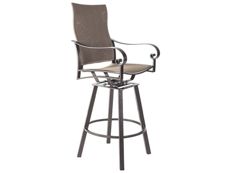 OW Lee Pasadera Steel Flex Comfort Swivel Bar Stool With Arms