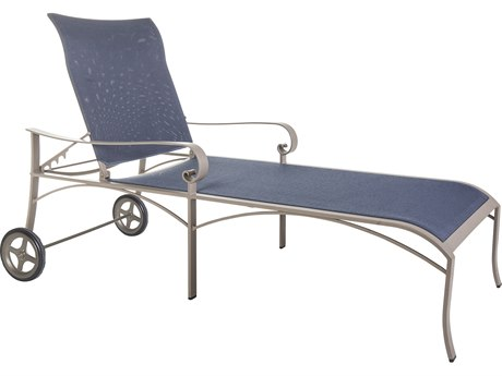 OW Lee Pasadera Steel Flex Comfort Chaise Lounge with Wheels