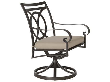 OW Lee Pasadera Steel Swivel Rocker Dining Arm Chair