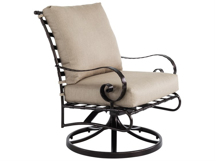 Swell Ow Lee Classico Wide Arms Wrought Iron Swivel Rocker Lounge Chair Bralicious Painted Fabric Chair Ideas Braliciousco