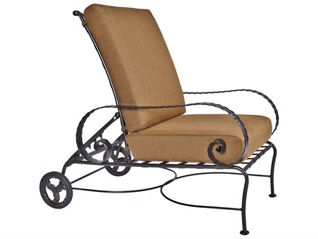 OW Lee Classico Wide Arms Wrought Iron Hi-Back Adjustable Lounge Chair