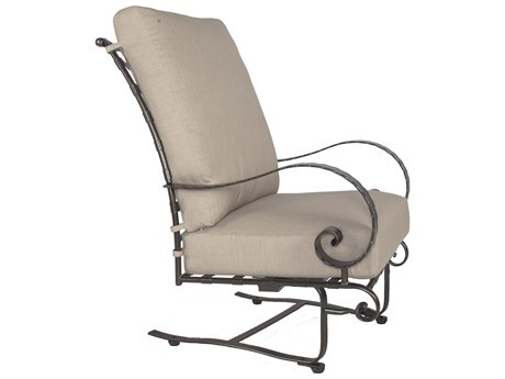 OW Lee Classico Wide Arms Wrought Iron Hi-Back Spring Lounge Club Chair