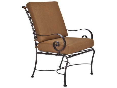 OW Lee Classico-Wide Arms Wrought Iron Club Dining Chair