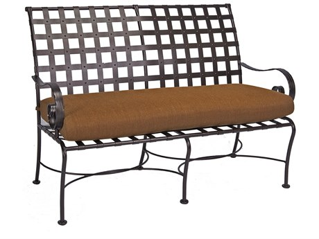 OW Lee Classico-Wide Arms Wrought Iron Bench
