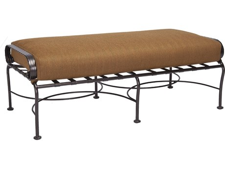 OW Lee Classico-Wide Wrought Iron Scrolls Double Ottoman PatioLiving