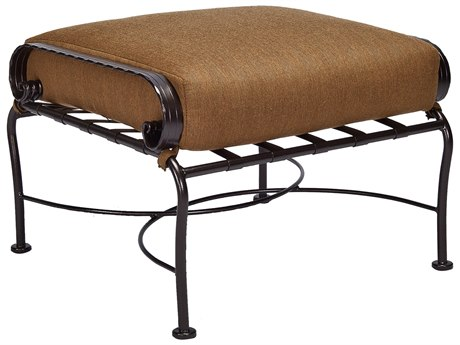 OW Lee Classico-Wide Wrought Iron Scrolls Ottoman