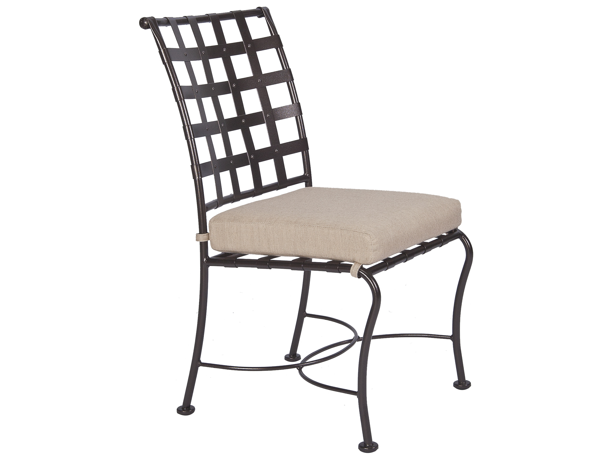 Iron Dining Chairs ~ Ow lee classico wrought iron dining side chair s