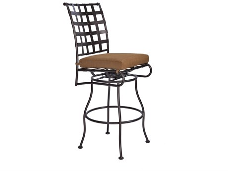 OW Lee Classico Wrought Iron Swivel Bar Stool Side Chair