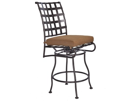 OW Lee Classico Wrought Iron Swivel Counter Stool Side Chair