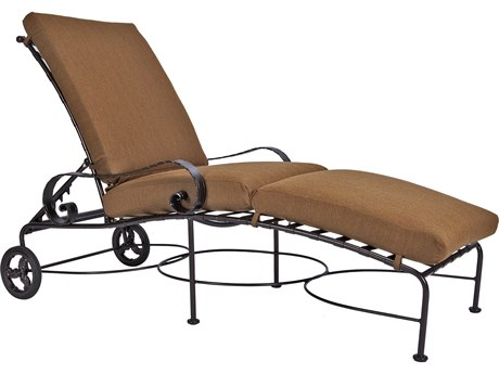 OW Lee Classico Wide Arms Wrought Iron Adjustable Chaise PatioLiving
