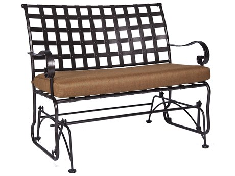 OW Lee Classico-Wide Arms Wrought Iron Sette Glider PatioLiving