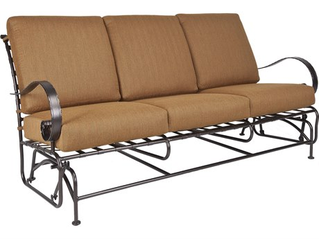 OW Lee Classico Wide Arms Wrought Iron Sofa Glider