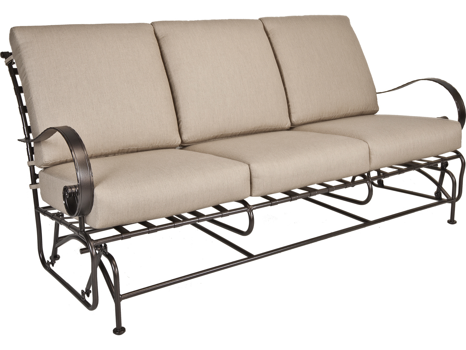 Ow Lee Classico Wide Arms Wrought Iron Sofa Glider 956 3gw