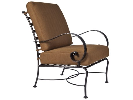 OW Lee Classico Wide Arms Wrought Iron Lounge Chair