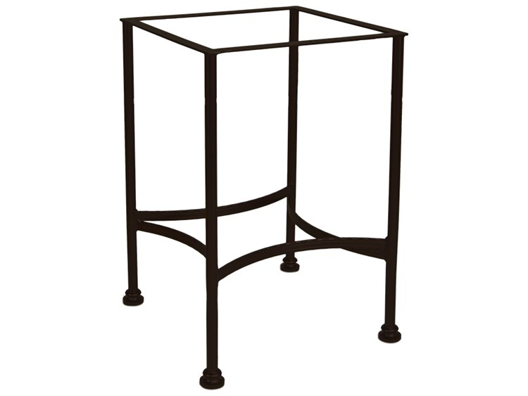 Ow lee classico wrought iron counter height table base for Outdoor table bases wrought iron