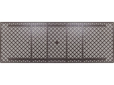 OW Lee Richmond Cast Aluminum 42-84 x 116 Rectangular Expanding Table Top with Umbrella Hole OWA42116RTCU