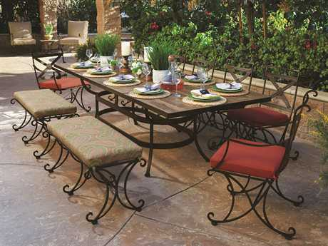 OW Lee Bellini Wrought Iron Dining Set