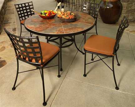 OW Lee Casa Wrought Iron Dining Set