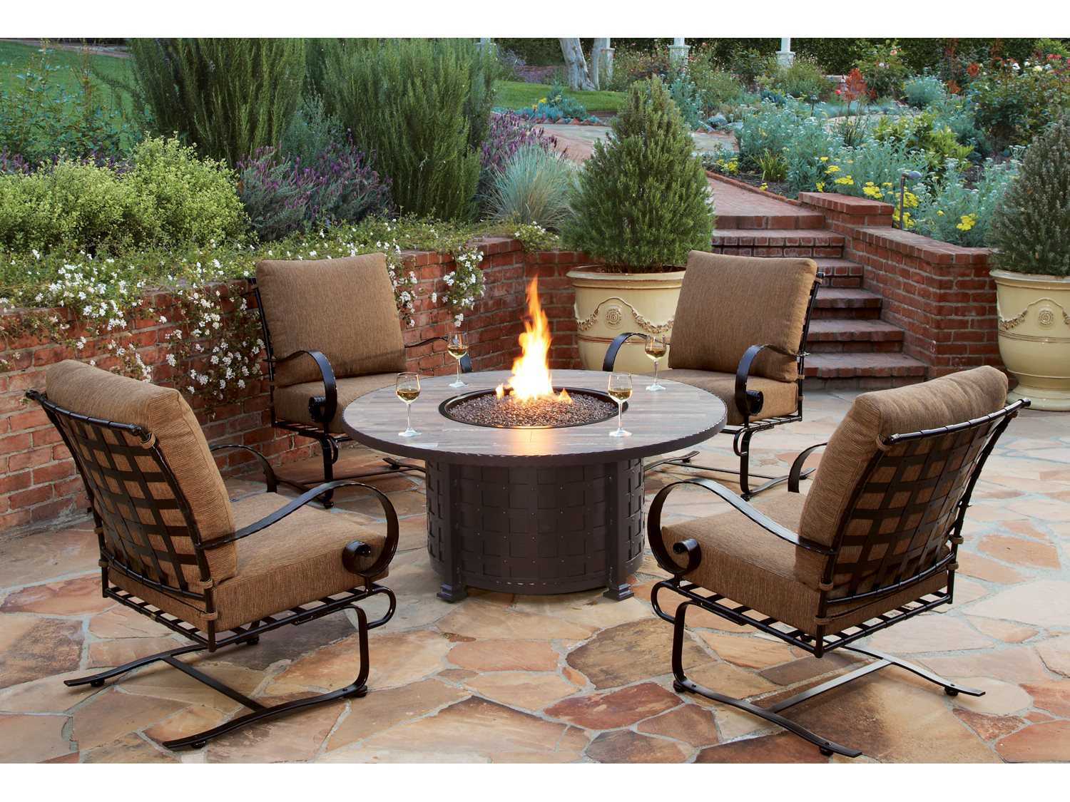 Ow Lee Casual Fireside Classico Wrought Iron 42 Round Chat