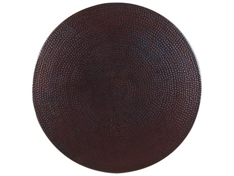 OW Lee Casual Hammered Copper 24 Round Lazy Susan