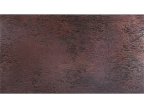 OW Lee Hammered Copper Stone 28 x 50 Rectangular Table Top