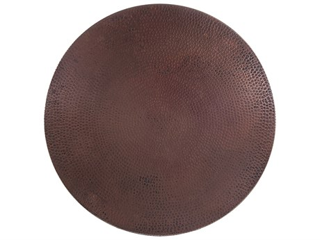 OW Lee Hammered Copper Stone 30 Round Table Top