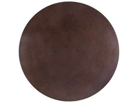 OW Lee Hammered Copper Stone 42 Round Table Top