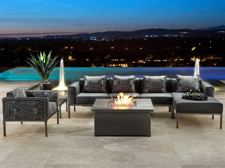 OW Lee Creighton Steel Firepit Lounge Set