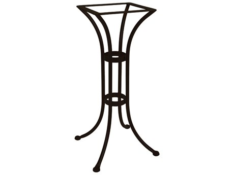 OW Lee Standard Mesh Wrought Iron Counter Round Table Base