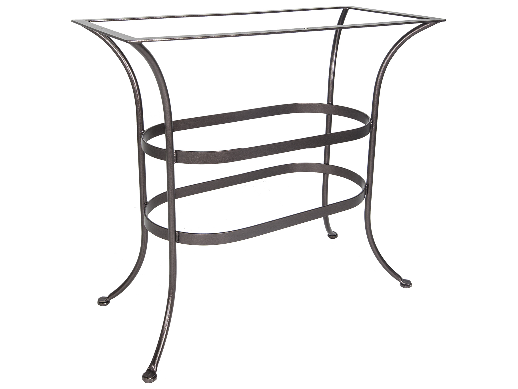 Ow lee wrought iron counter table base ct05 base for Outdoor table bases wrought iron