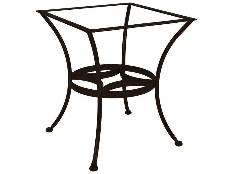 Ow lee wrought iron dining round table base owdt03base for Wrought iron side table base