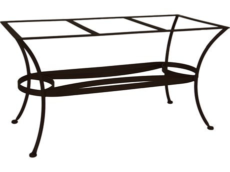 OW Lee Wrought Iron Rectangular Dining Table Base