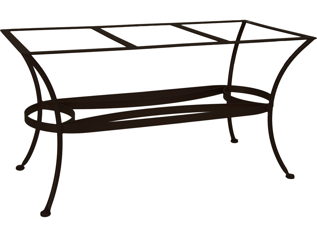 OW Lee Wrought Iron Rectangular Dining Table Base | DT07-BASE