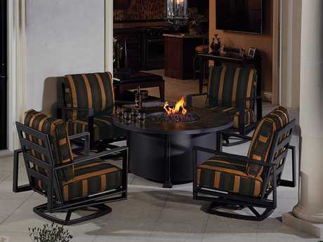 OW Lee Gios Aluminum Firepit Lounge Set