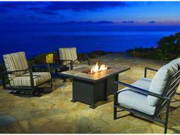 Gios Aluminum Firepit Lounge Set