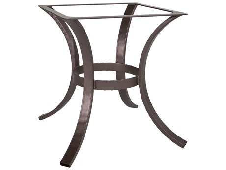 OW Lee Hammered Wrought Iron 03 Dining Table Base