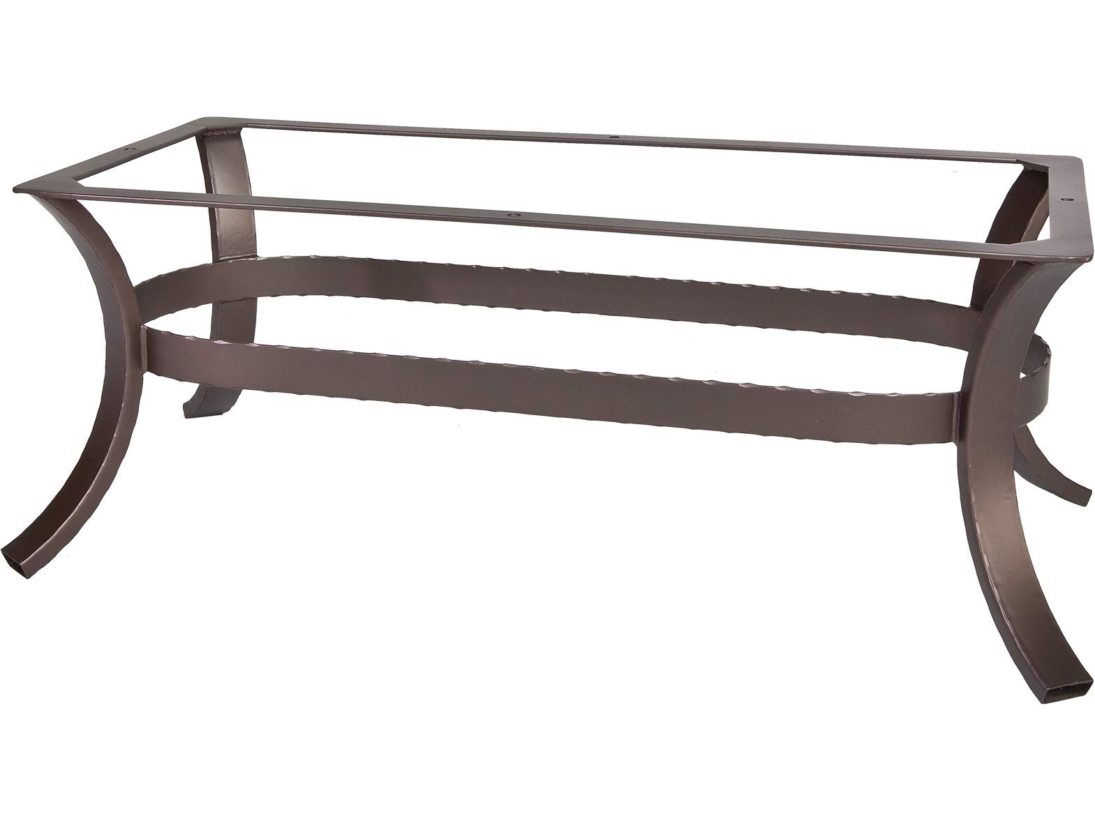 Ow lee hammered wrought iron 05 coffee table base owhiot05 for Wrought iron coffee table base