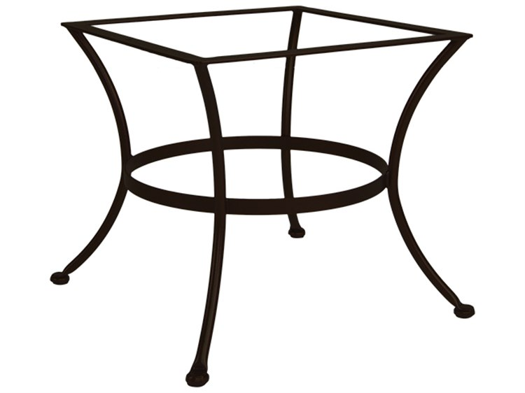 OW Lee Wrought Iron Square Chat Table Base