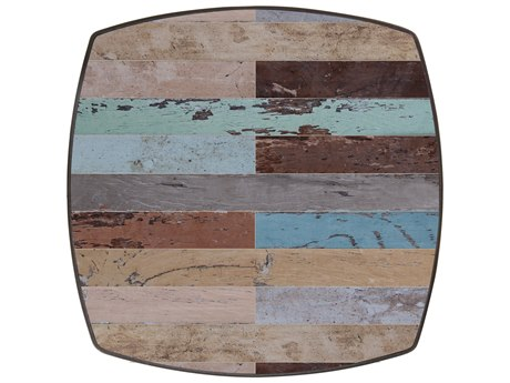 OW Lee Marina Porcelain 30'' Wide Square Boat Shape Table Top OWM30BT