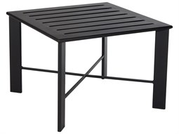 OW Lee Modern Aluminum 28 Square Slatted Top Side Table
