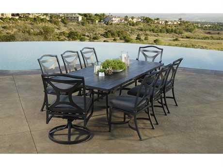 OW Lee Madison Aluminum Dining Set