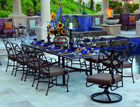OW Lee Marquette Wrought Iron Dining Set