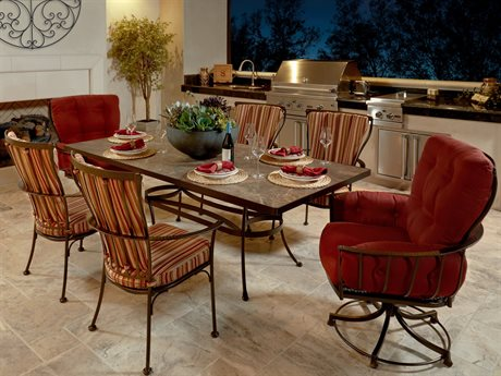 OW Lee Monterra Wrought Iron Dining Set