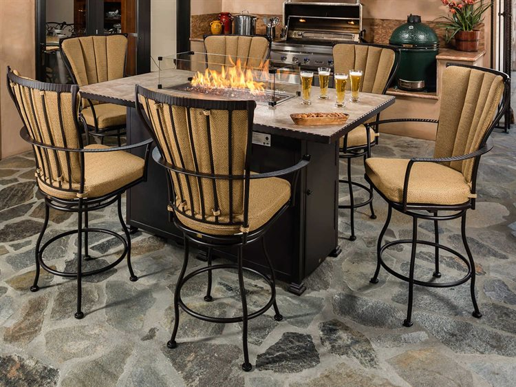 OW Lee Monterra Wrought Iron Counter Set PatioLiving