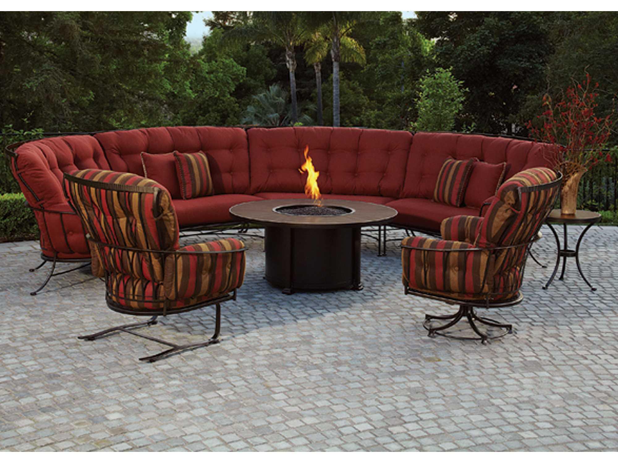 OW Lee Monterra Wrought Iron Swivel Rocker Lounge Chair ...