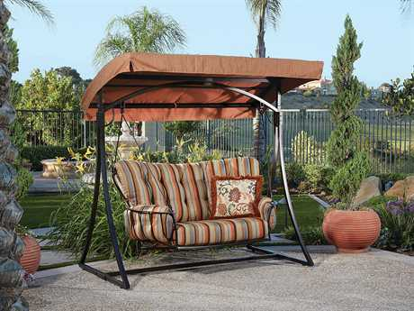 OW Lee Monterra Wrought Iron Cushion Swing