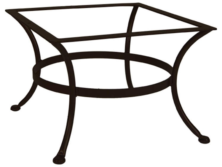 OW Lee Wrought Iron Round Coffee Table Base 25W X 25D X 17.5H | OT03 BASE