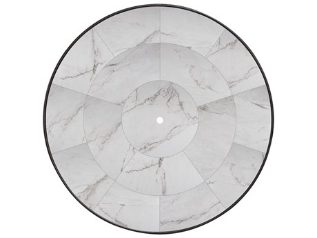 OW Lee Porcelain Tile 54 Round Table Top with Umbrella Hole