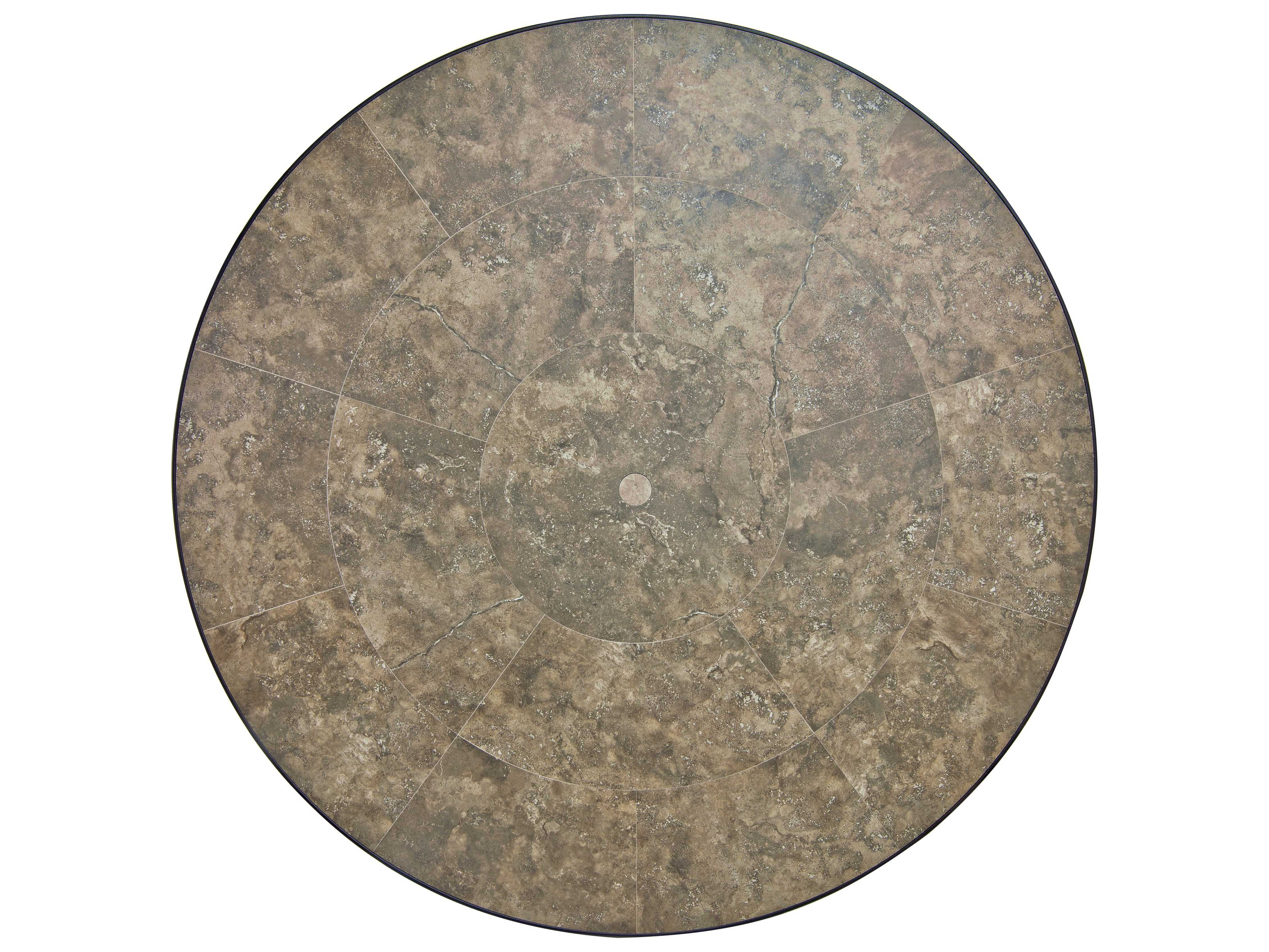 Ow Lee Porcelain Tile 54 Round Table Top With Umbrella